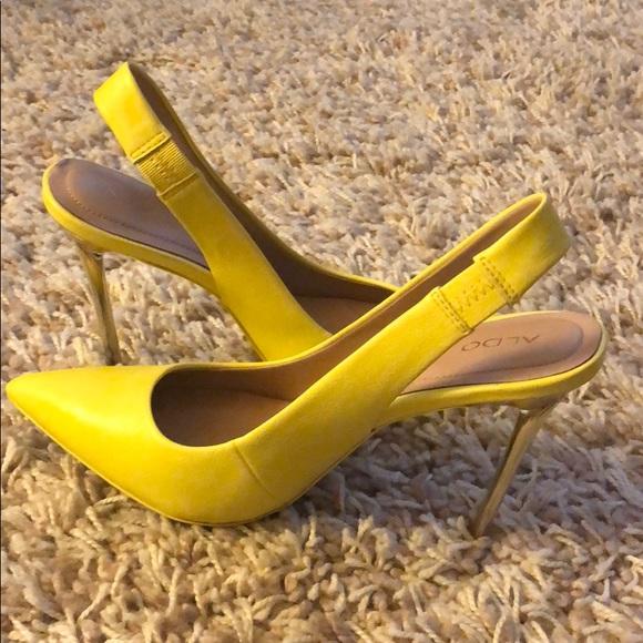 Yellow Slingback Heels